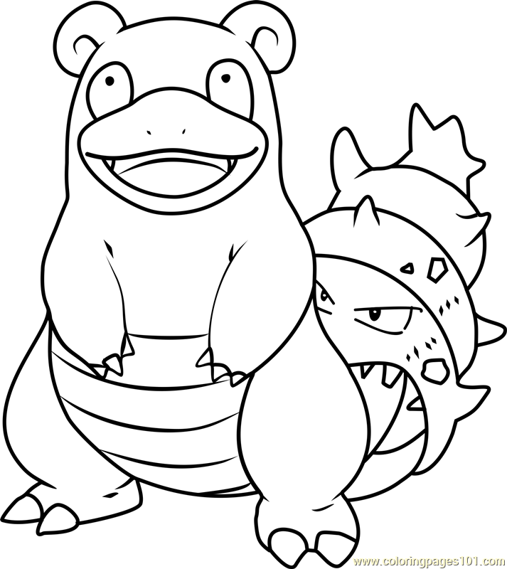 Slowbro Pokemon Coloring Page - Free Pokémon Coloring Pages ...