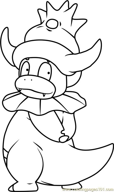 Slowking Pokemon Coloring Page