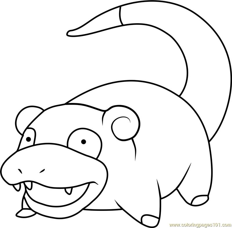 Slowpoke Pokemon Coloring Page Free Pokemon Coloring Pages - Slowpoke-coloring-pages