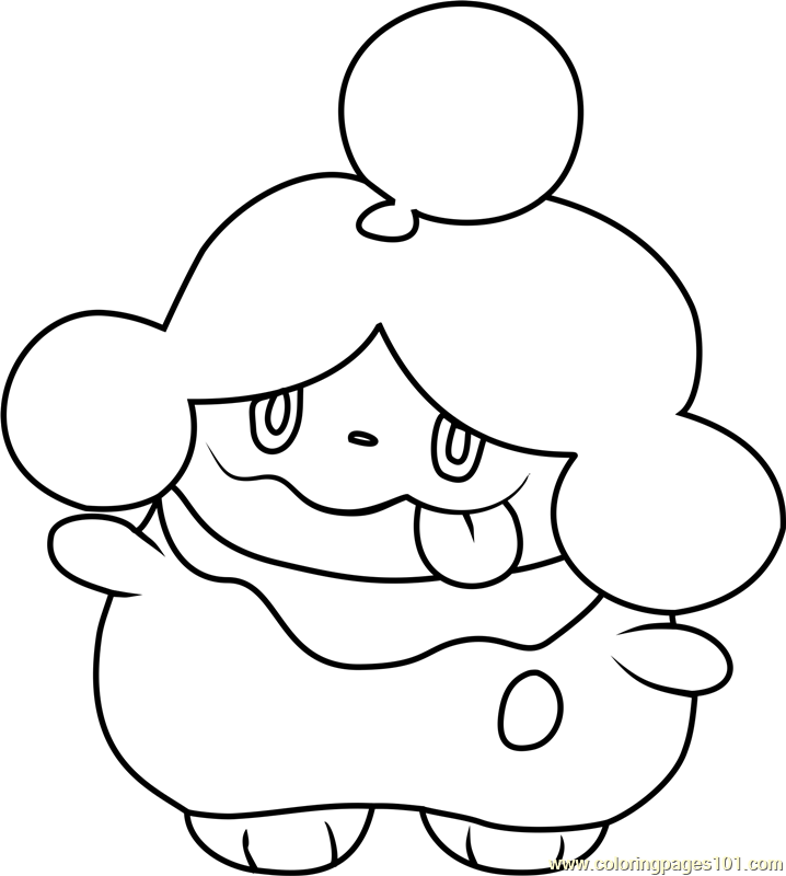 Slurpuff Pokemon Coloring Page Free Pok Mon Pages