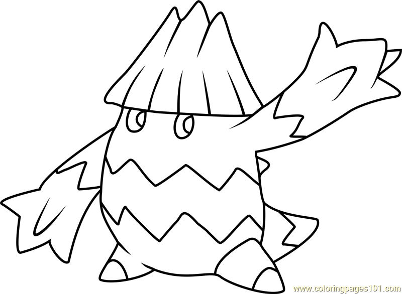 Snover Pokemon Printable Coloring Page For Kids And Adults