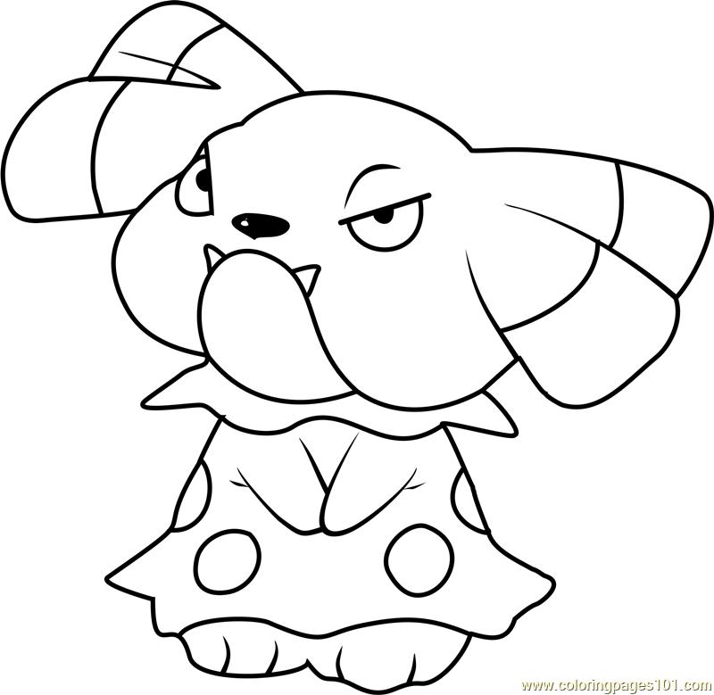 Snubbull Pokemon Coloring Page