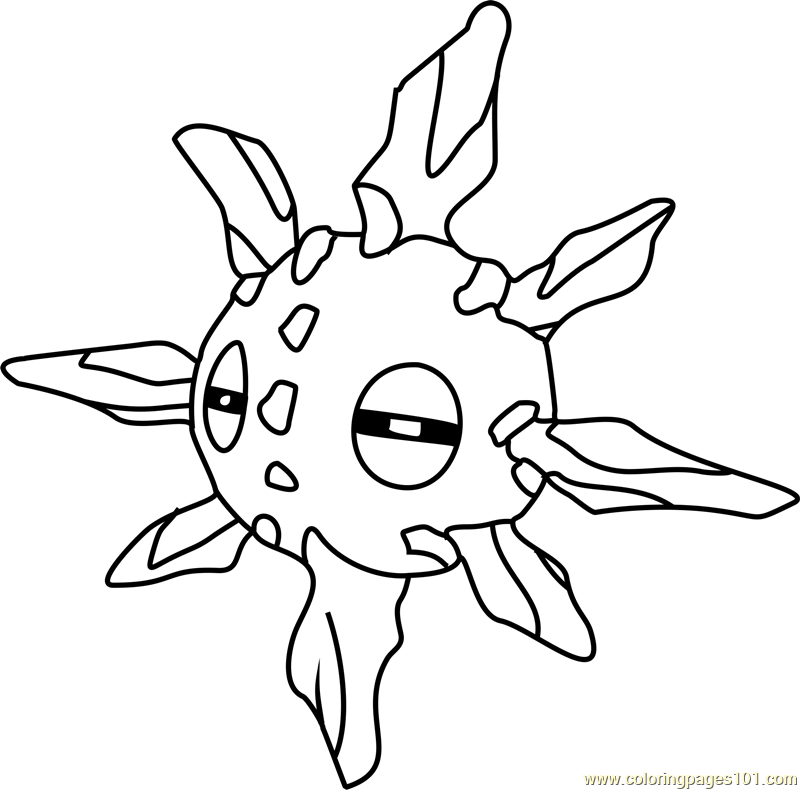 Solrock Pokemon Coloring Page