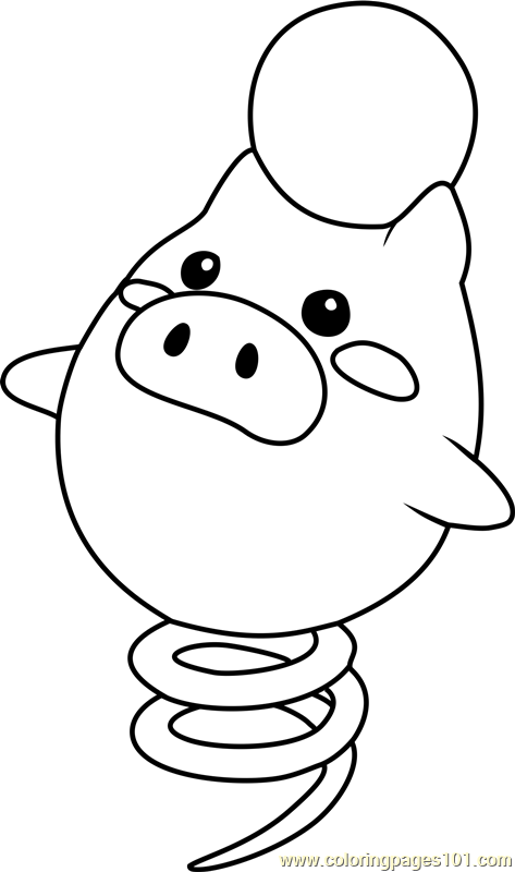 78460 Spoink Pokemon Coloring Page