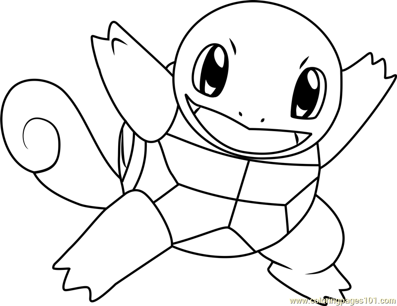 Squirtle Pokemon Coloring Page Free Pokmon Coloring Pages