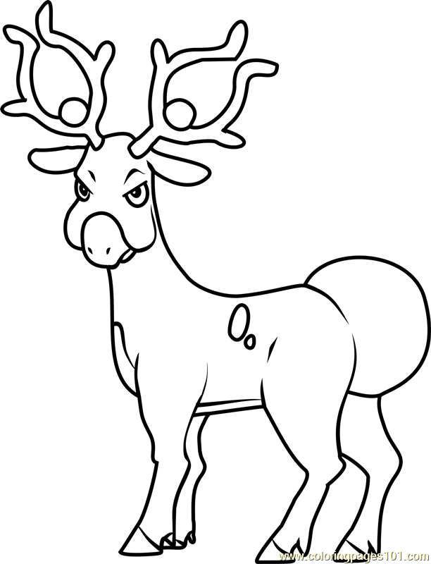 Stantler Pokemon Coloring Page