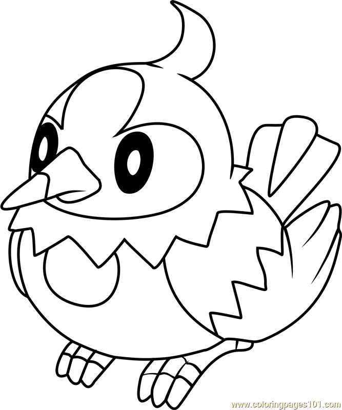 Starly Pokemon on pokemon charizard coloring pages images