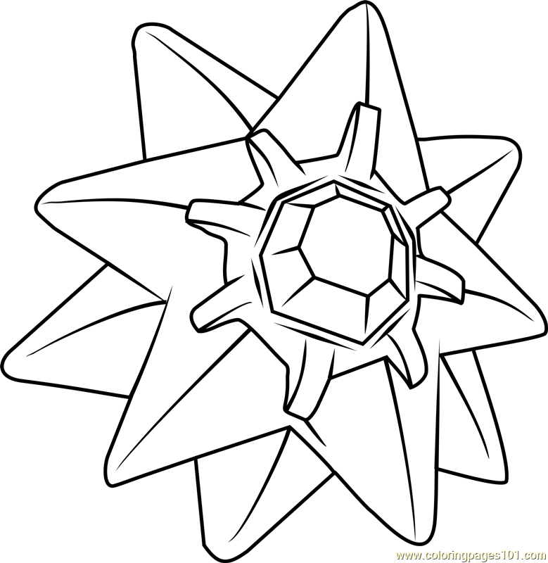 Starmie Pokemon Coloring Page