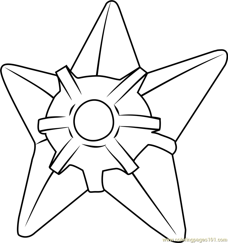 Staryu Pokemon Coloring Page Free Pok mon Coloring Pages