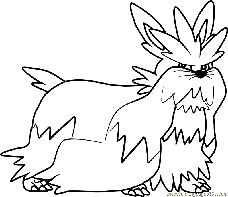 Stoutland Pokemon Coloring Page