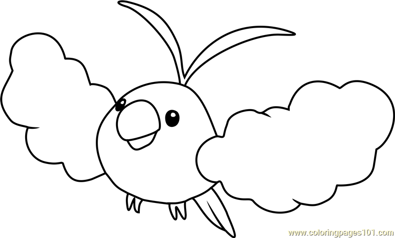 Swablu Pokemon Coloring Page Free Pok 233 Mon Coloring Pages