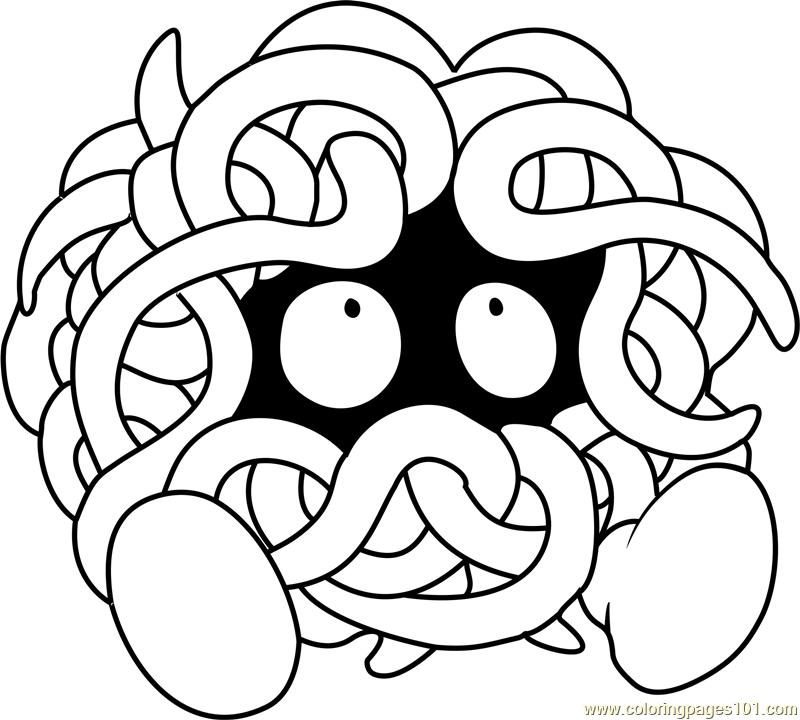 Tangela Pokemon Coloring Page