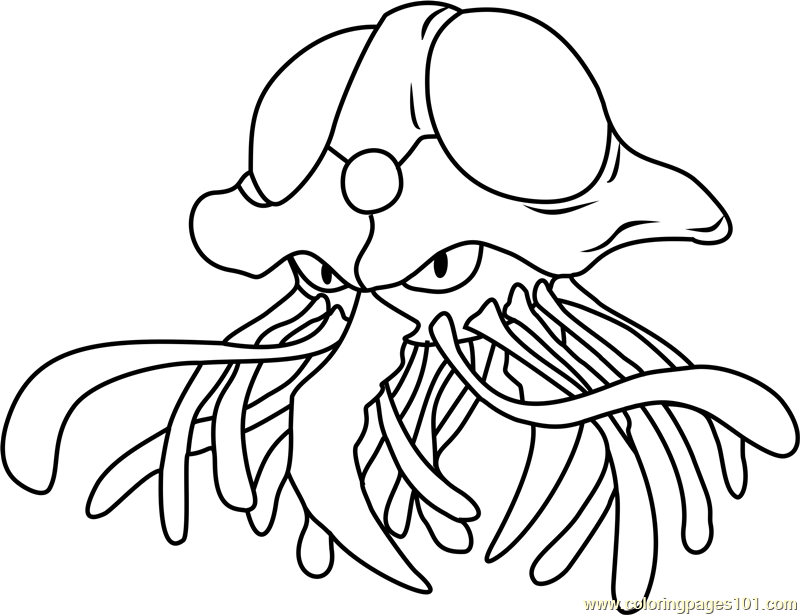 tentacruel pokemon coloring page