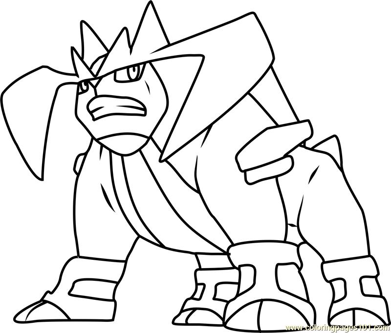 Terrakion Pokemon Coloring Page Free Pok 233 Mon Coloring