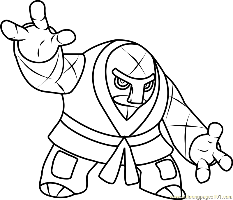 Throh Pokemon Coloring Page Free Pok 233 Mon Coloring Pages