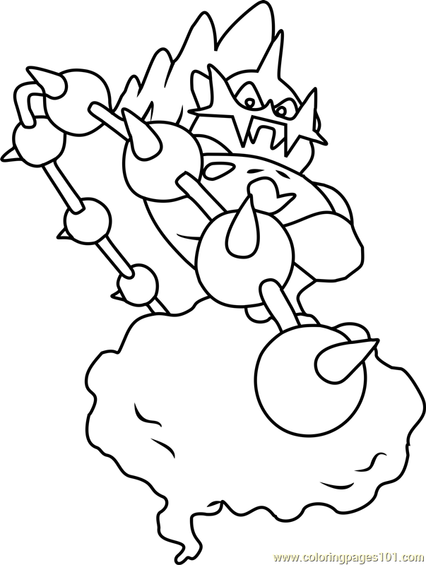 thundurus pokemon coloring page