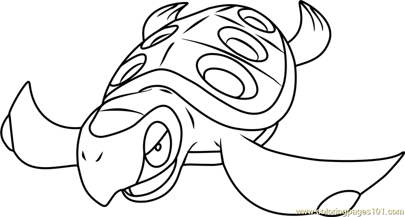 Tirtouga Pokemon Coloring Page
