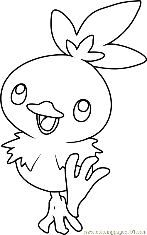 Torchic Pokemon Coloring Page Free Pok 233 Mon Coloring