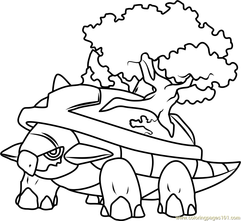 Torterra Pokemon Coloring Page