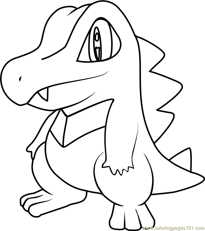 Totodile Pokemon Coloring Page