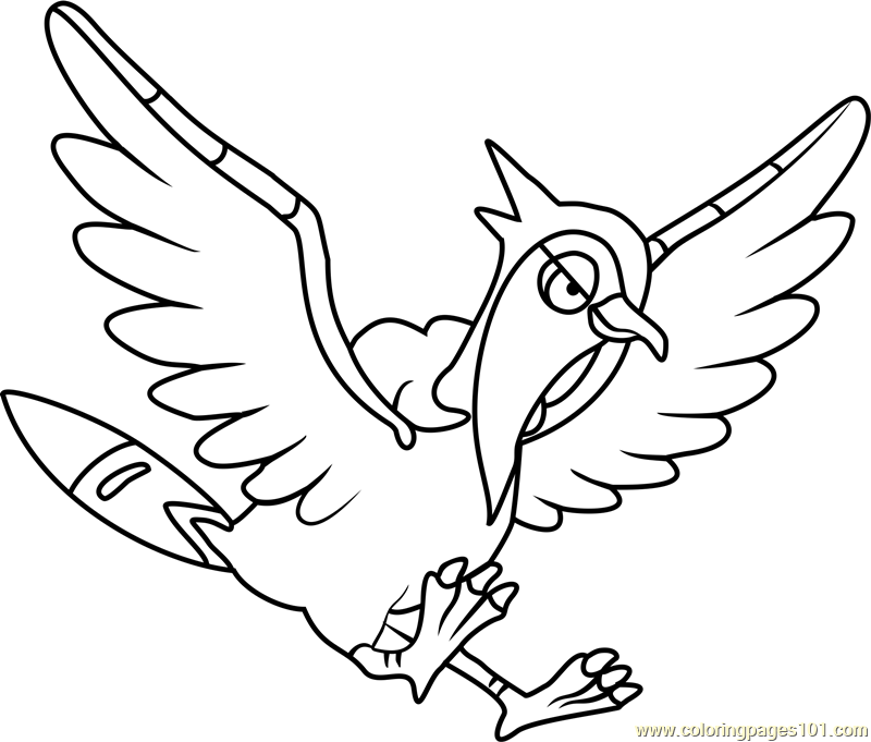 Tranquill Pokemon Coloring Page