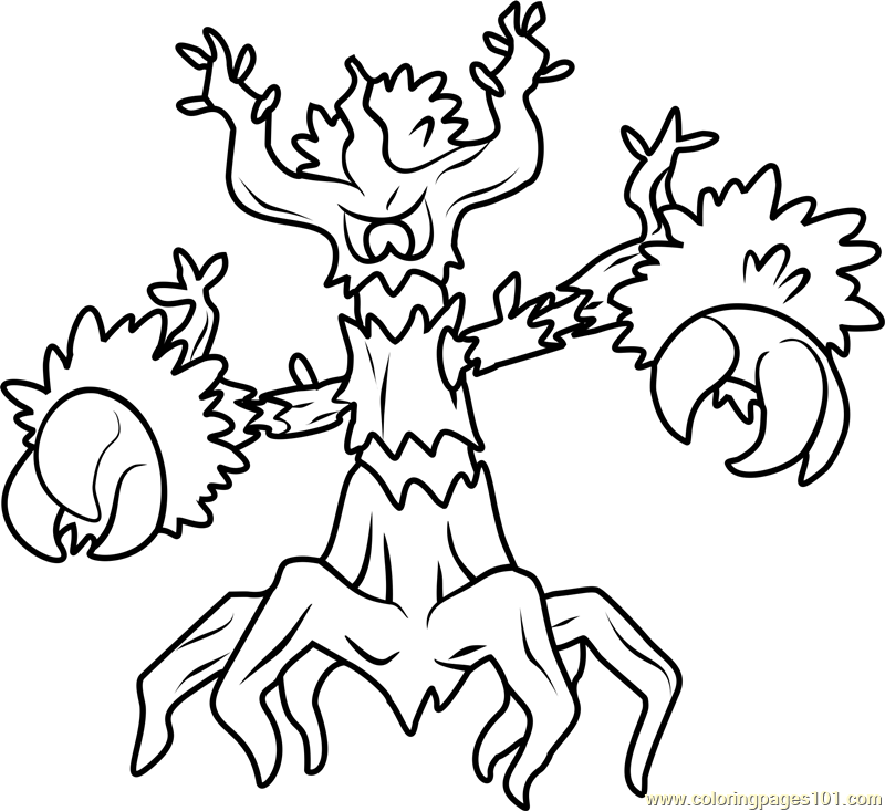 Trevenant Pokemon Coloring Page - Free Pokémon Coloring Pages ...