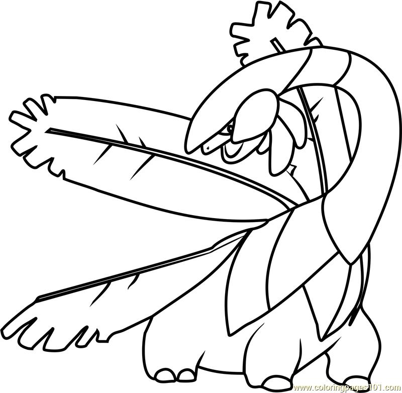 Tropius Pokemon Coloring Page