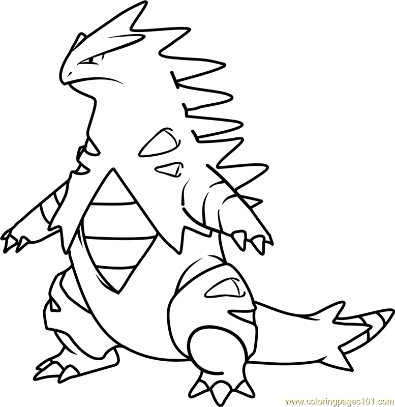 Tyranitar Pokemon Coloring Page