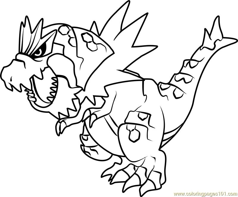 Tyrantrum Pokemon Coloring Page - Free Pokémon Coloring Pages ...