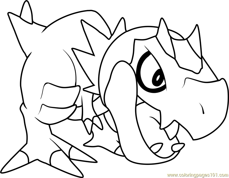 Tyrunt Pokemon Coloring Page