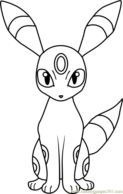 umbreon pokemon coloring page