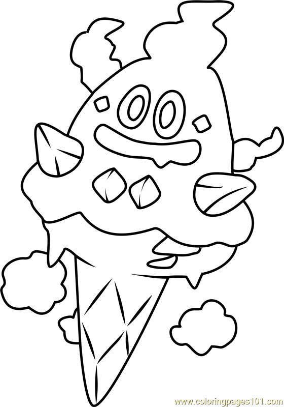 Vanillish Pokemon Coloring Page