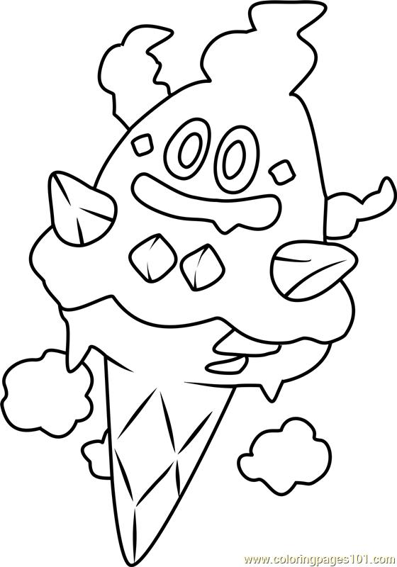 Vanillish Pokemon Coloring Page