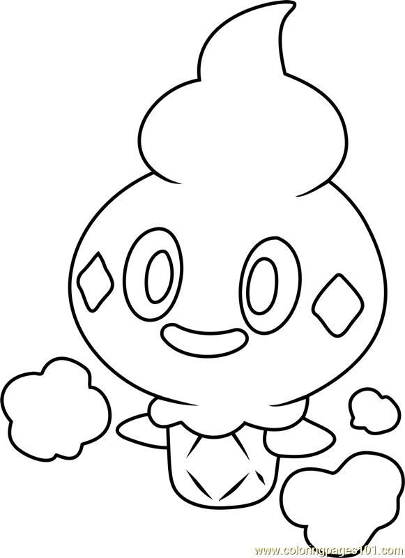Vanillite Pokemon Coloring Page