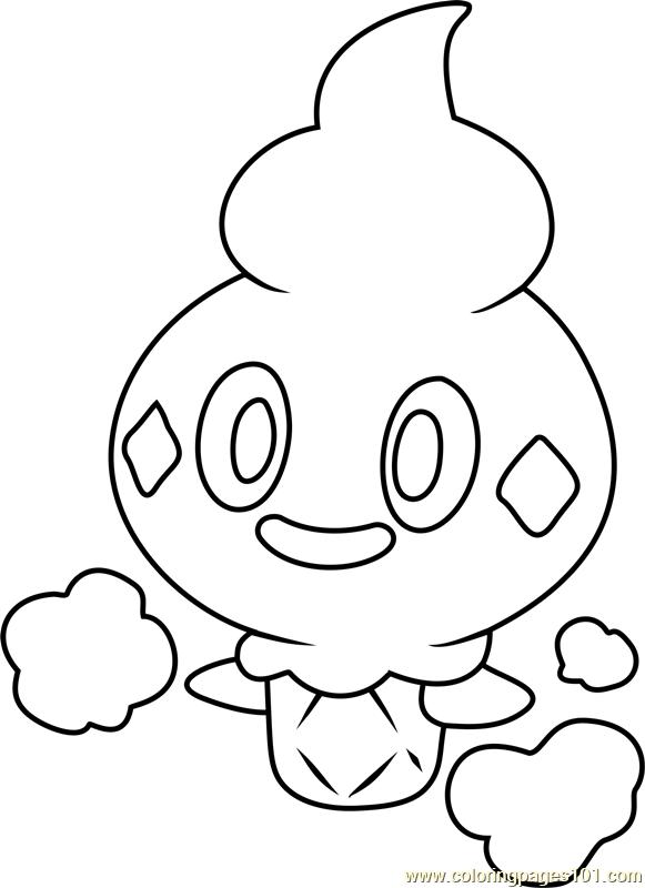 Vanillite Pokemon Coloring Page