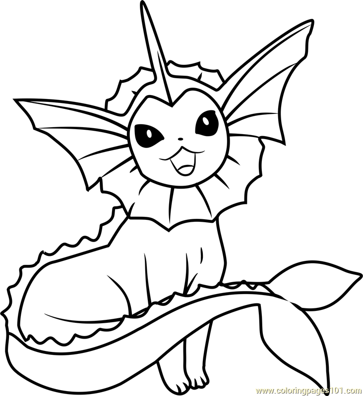 vaporeon pokemon coloring page