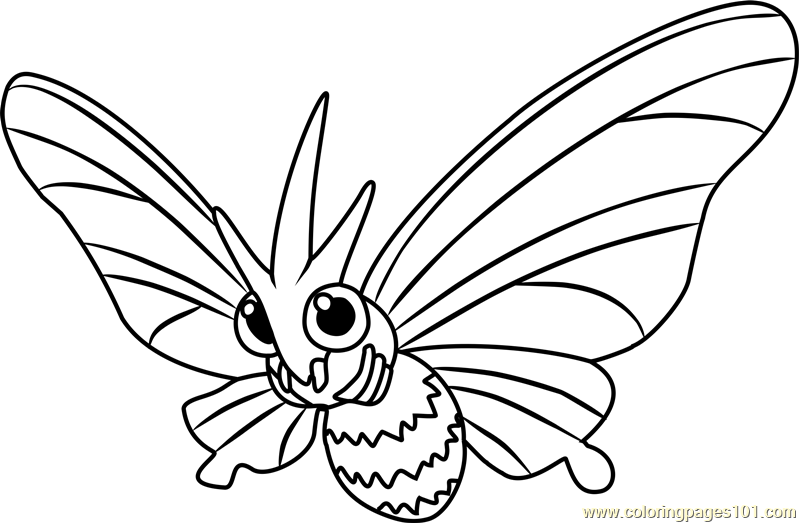 Venomoth Pokemon Coloring Page