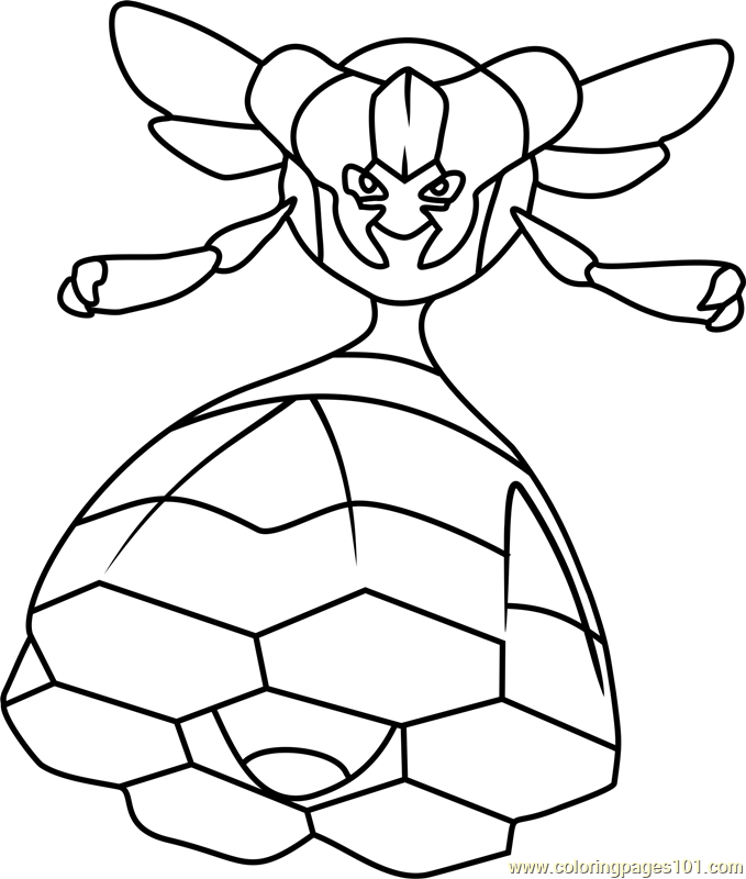 Vespiquen Pokemon Coloring Page