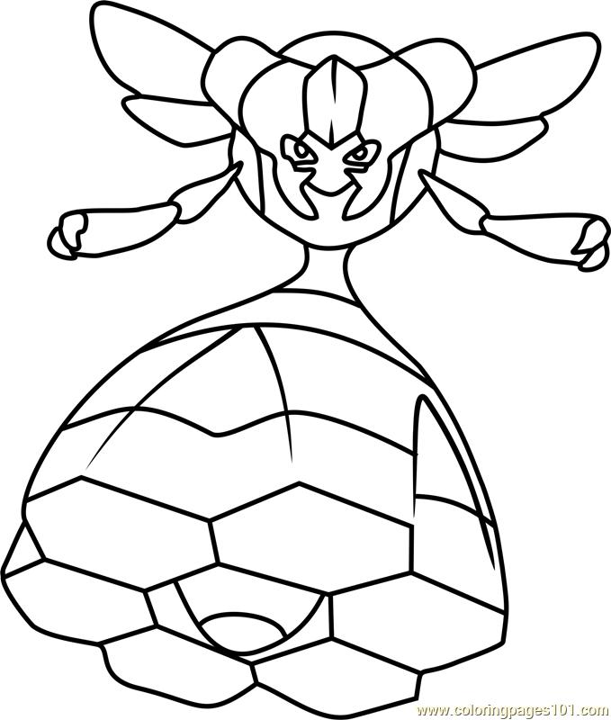 Vespiquen Pokemon Coloring Page For Kids Free Pokemon Printable Coloring Pages Online For Kids Coloringpages101 Com Coloring Pages For Kids