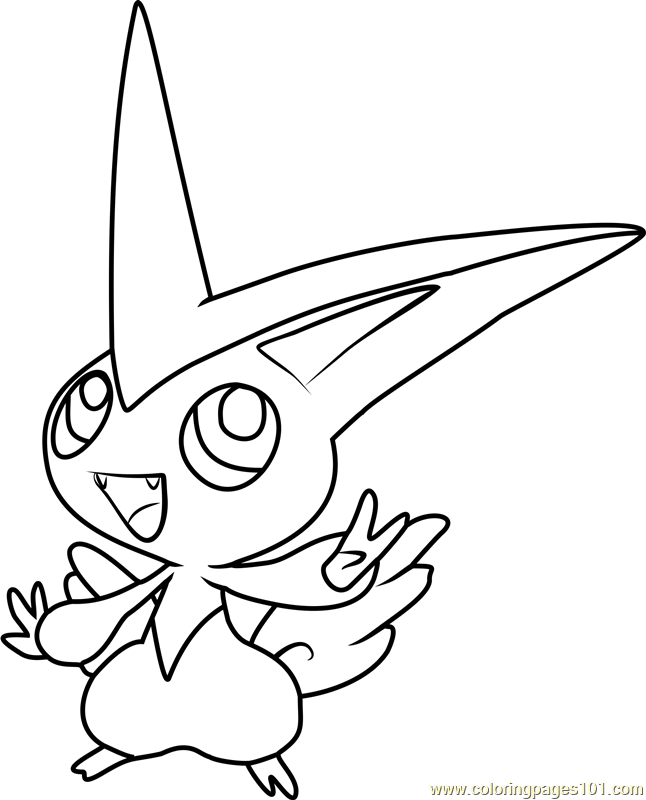 Victini Pokemon Coloring Page
