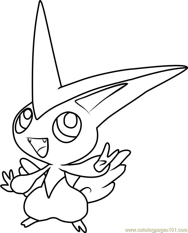 Victini Pokemon Coloring Page