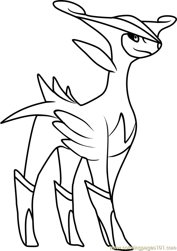 Virizion Pokemon Coloring Page