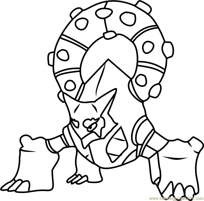 Volcanion Pokemon Coloring Page