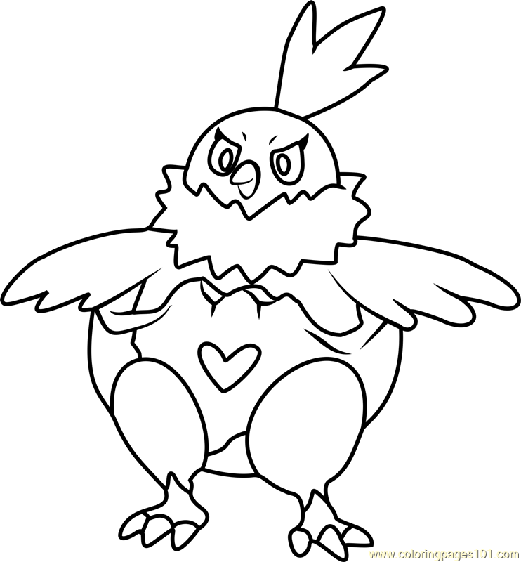 Vullaby Pokemon Coloring Page Free Pok 233 Mon Coloring