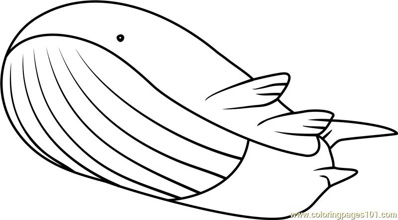 Wailord Pokemon Coloring Page Free Pok mon Coloring