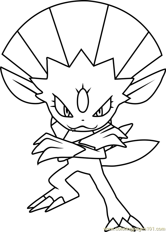 Weavile Pokemon Coloring Page