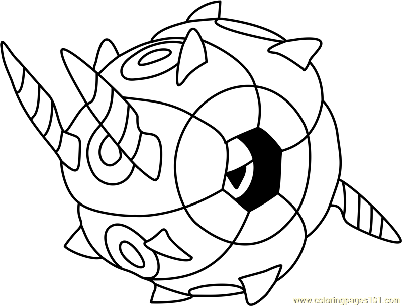 Whirlipede Pokemon Coloring Page
