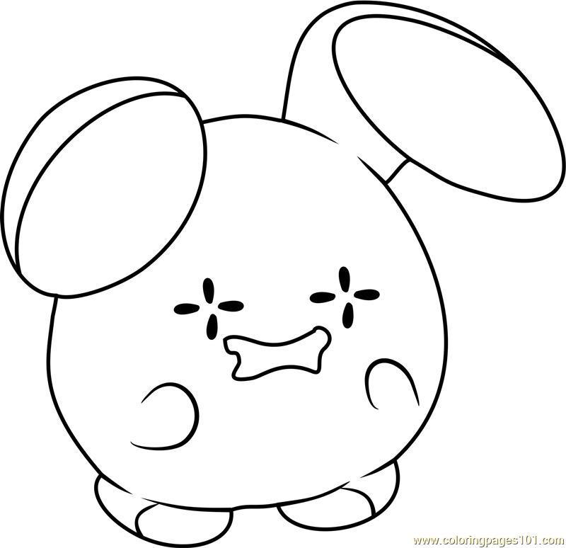Whismur Pokemon Coloring Page