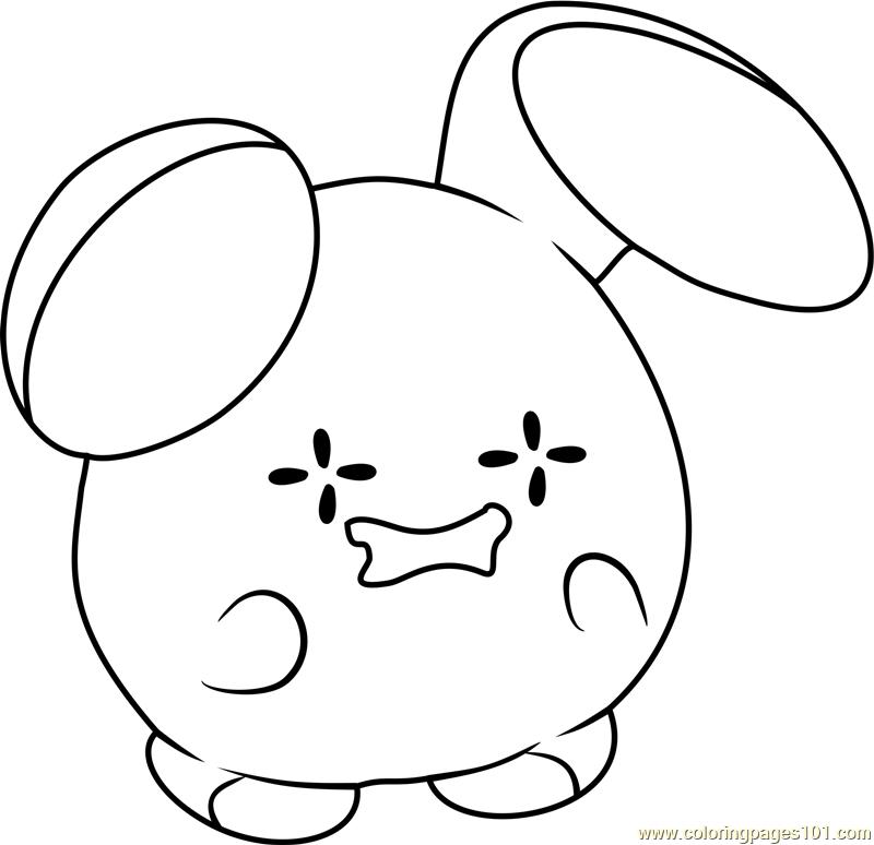 Whismur Pokemon Coloring Page Free Pok 233 Mon Coloring