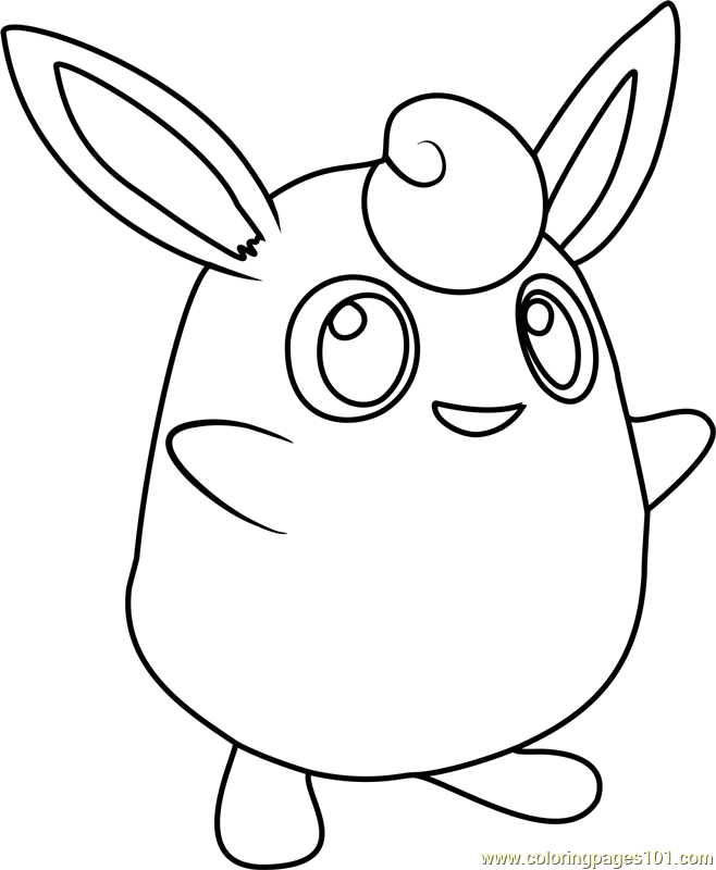 Wigglytuff Pokemon Coloring Page
